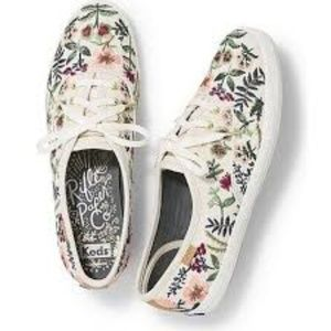 Rifle Paper Co  Embroidered Keds